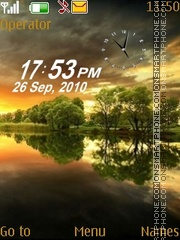 Heaven dual clock theme screenshot