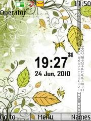 Скриншот темы l flower clock