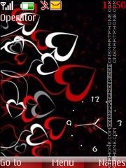 Скриншот темы Love hearts clock