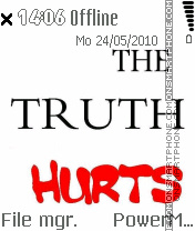 Truth Hurts tema screenshot