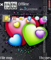 Скриншот темы Colour Hearts 01