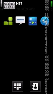 Red Black 03 tema screenshot