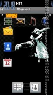 Mj Black es el tema de pantalla