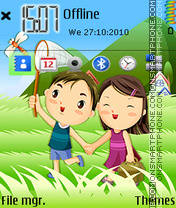 Cute couple 04 tema screenshot