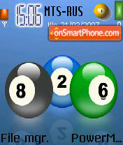 Pool Balls theme screenshot