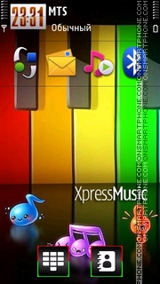 Xpress Music 05 tema screenshot