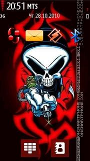 Скриншот темы Tattoo Skull