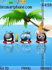 Summer Cartoon theme screenshot