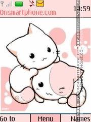 Choy Pink Kitties theme screenshot