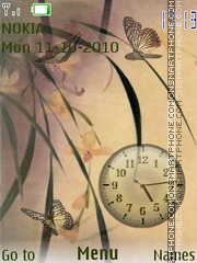 Butterfly Clock 03 theme screenshot