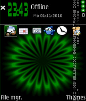 Greenillusion theme screenshot