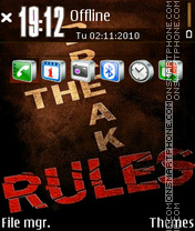 Rules theme screenshot