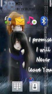Never Leave U tema screenshot