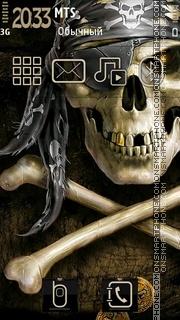 Скриншот темы Skull Smile