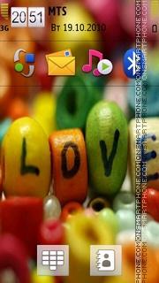 Love Logo es el tema de pantalla
