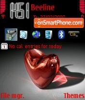 Скриншот темы Heart 01