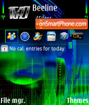 Скриншот темы E-phone 240 yI