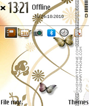 Gold butterfly 01 theme screenshot