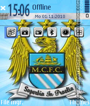 Manchester City F.C. theme screenshot