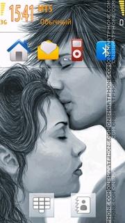 Cute Innocent Couple tema screenshot