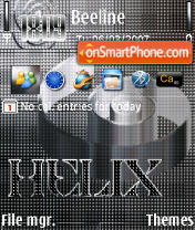 Скриншот темы Helix Silver 240 yI
