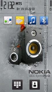 Nokia 5800 XM theme screenshot