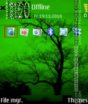Green Autumn theme screenshot