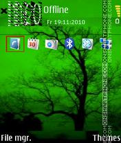 Скриншот темы Green Autumn