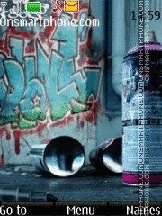 Strange Graffiti theme screenshot