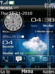 Nokia Clock 05 theme screenshot