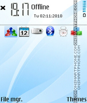 Sky blue theme screenshot