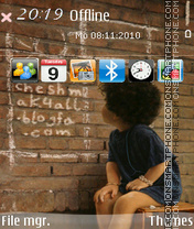 Wall 03 theme screenshot