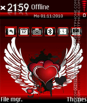 Angel heart 01 theme screenshot
