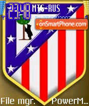 Atletico Madrid theme screenshot