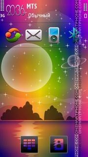 Space Sunset theme screenshot