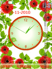 Flower clock theme screenshot
