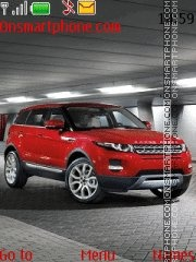 Range rover red theme screenshot