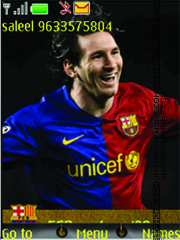 Lionel Messi theme screenshot