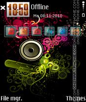Скриншот темы Music 5323