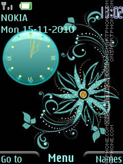 Abstraction Clock theme screenshot