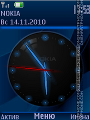 Neon clock tema screenshot