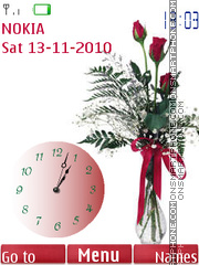 Bouquet and Clock theme screenshot