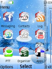 Social Xmas Tone tema screenshot