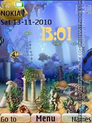 Скриншот темы Animated Fish Tank