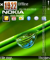 Nokia Drop theme screenshot