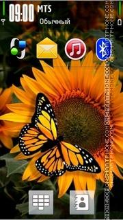 Sunflower 3d theme screenshot