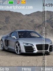 Audi R8 V12 theme screenshot
