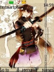Boy with Katana theme screenshot