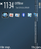 Dots blue for nokia e52 theme screenshot