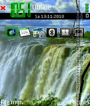 Waterfall 05 theme screenshot